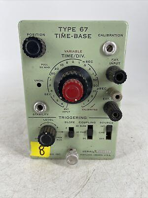 Rare Vintage Tektronix Type 67 Time Base Plug-in