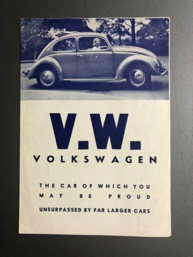 1948 - 1951 Max Hoffman VW Beetle Showroom Advertising Sales Brochure RARE!!