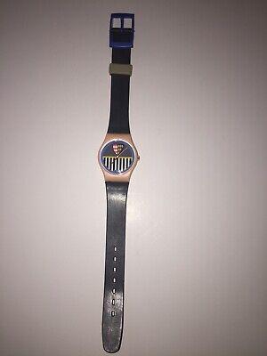 1986 Vintage Swatch Watch VALKYRIE Ladies Swiss Quartz Original Plastic