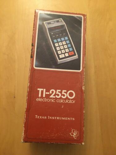 TEXAS INSTRUMENTS ELECTRONIC CALCULATOR TI-255O, 1974, AMAZING CONDITION