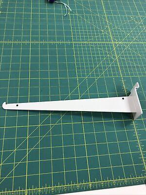 12 Inch Slat Wall Brackets 12 Units White