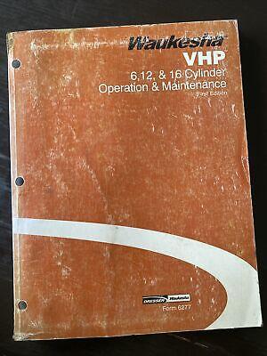 Waukesha 61216 Cylinder Vhp Gas Engine Service Operator Maint Manual Shop Book
