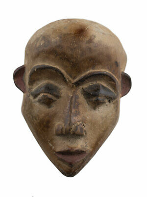 Masquette Yombe Mask Pasport African Congo Wood 11 cm Art Primitive 16925