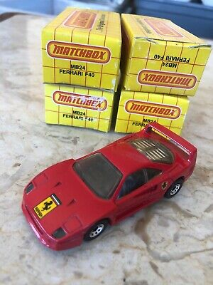 (lot Of 4) Matchbox Mb24 Ferrari F40 NIB