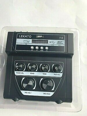 LEKATO F-8 Mini Audio Mixer Sound Mixer Dual Power Supply For Stage Families KTV