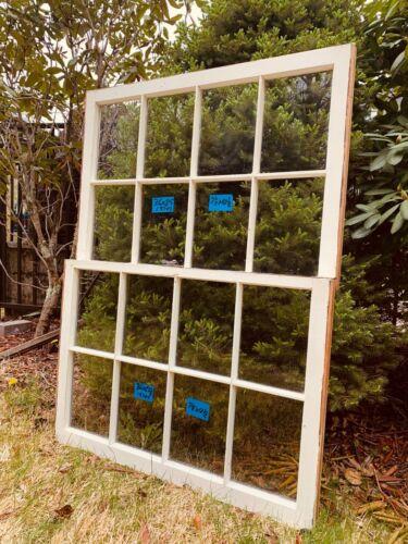 2- 36 x 25  Vintage Window sash old Top & Bottom 8 pane From 1970s Arts & Craft