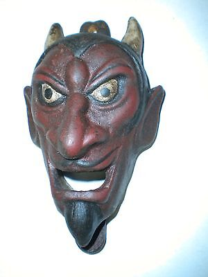 CAST IRON DEVIL BOTTLE OPENER WALL MOUNTED