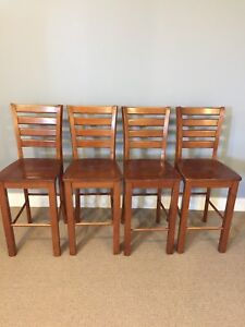 Solid wood stools (set of 4)