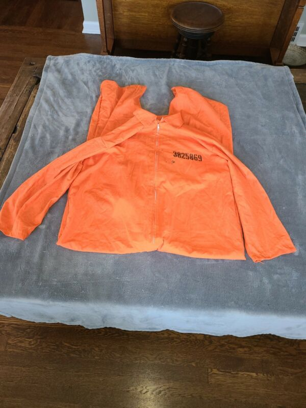 1980s Got Busted Penitentiary Painted Halloween Original Prison Jumpsuit Costume