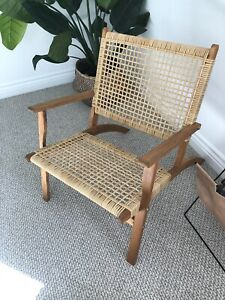 Immaculate Kmart cane rattan chair - used for display only