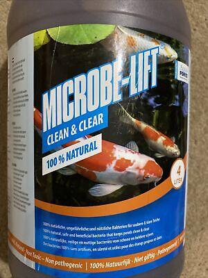 Aqua Forte Microbe-Lift Clean & Clear, 4 Litre. Expiry 10/2021, New