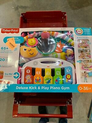 Fisher-Price Deluxe Kick 'n Play Piano Gym, PINK, NEW Open Box