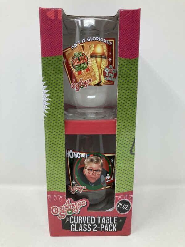 A Christmas Story Curved Table Glass 2 pack 21 Ounces.