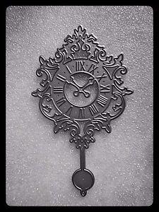 Time/Clock Metal Cutting Die,Time Flies,Chime Clock,Stencil,Craft,Card Making