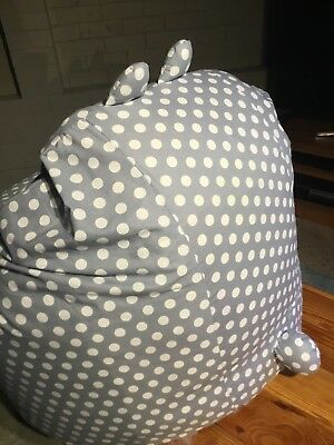 BUNNY BEANBAG POLKA DOT COTTON BEAN BAG BUNNY EARS AND TAIL COMFY MINI SOFA Cotton Comfy Bean Bag