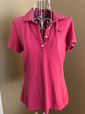 Lacoste Polo Shirt, Size 42, Pink Vintage Wash
