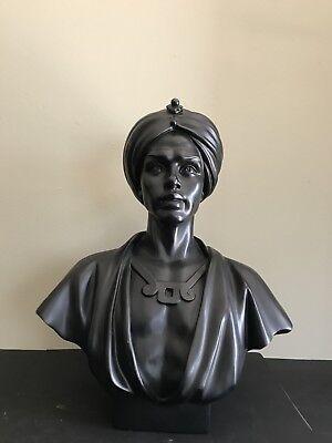 "Vintage Blackamoor Bust Statue 18"""