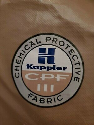 KAPPLER System CPF 3 Hazmat Protective Suit / Coverall, Size MD