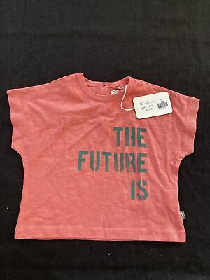 Imps & Elf's NWT Pink Organic Cotton Knit Short Sleeve T-Shirt -9 Months