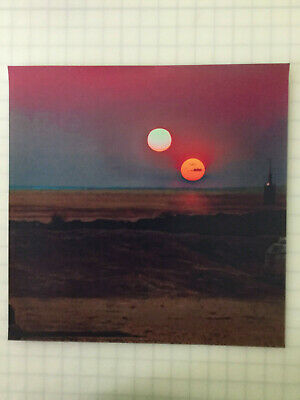 POSTER BACKDROP SHIPS ROLD~STAR WARS~TWIN SUNS  FOR 1/6 HOT TOYS FIGURE LUKE SKY