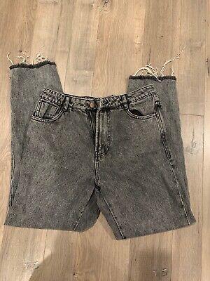 Zara Trafaluc Denimwear Mid Rise Faded Black Jeans Size 6