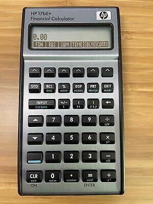Hp 17bii Financial Calculator Silver - New Batteries Excellent Condition