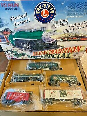 LIONEL 6-31966 O GAUGE TRAIN SET CHRISTMAS HOLIDAY TRADITION SPECIAL in BOX