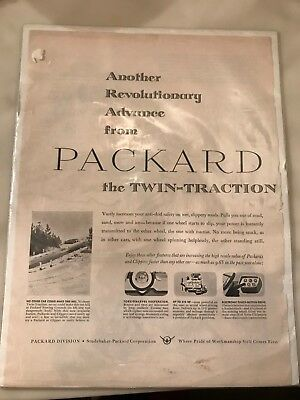 "1956 Packard Automobile Advertisement: ""The Twin-Traction Safety Differential"", used for sale  Gulfport"