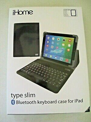 iHome Type Slim Bluetooth Keyboard Case For iPad Fits iPad 2-4 iPad Air & Air 2