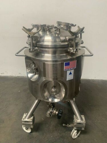 Precision 100 Liter Stainless Steel Jacketed Reactor Rated @ 100 PSI