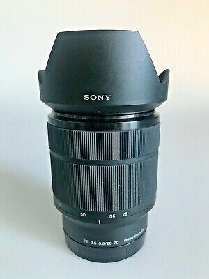 SONY SEL2870 FE 28-70mm f 3.5-5.6 OSS E Mount Full Frame Lens hood caps Exc.Cond