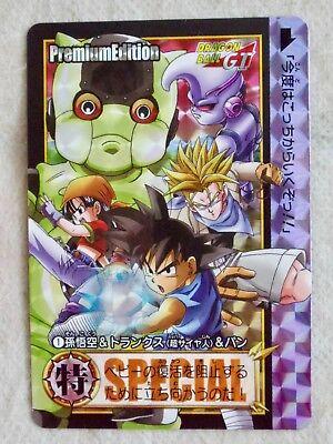 JAPAN BANDAI DRAGONBALL GT Carddass Premium ED 1 GOKU Super Saiyan TRUNKS & PAN](Super Saiyan Pan)