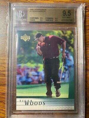 Tiger Woods 2001 Upper Deck #1 Beckett BGS 9.5 Rookie Card RC (4 x 9.5)