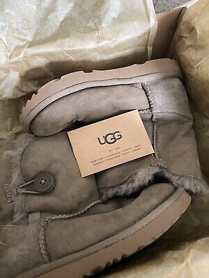 UGG TBailey Button size kids 12 in box water resistant