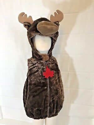 Baby Moose Infant Toddler Boutique Costume Halloween Soft Antlers Kids Soft - Infant Moose Costume