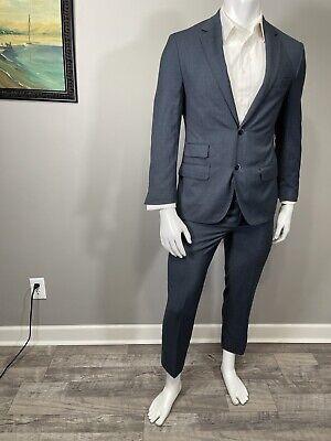 Bianco Brioni Super 150 Mens Wool/silk Suit 2 Piece Size 36 Small