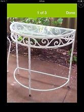 4 x 1960's White Wrought Iron Hall & Coffee Tables Canning Vale Canning Area Preview