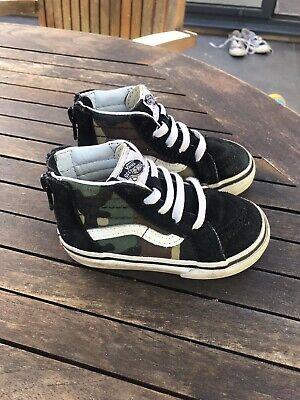 Vans Infant Camo Shoes - Size 5
