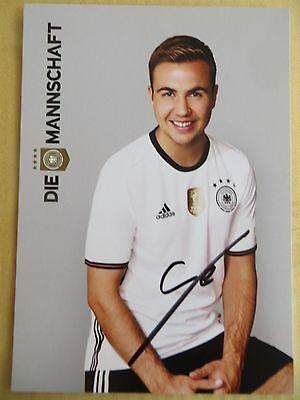 Handsignierte Autogrammkarte MARIO GÖTZE Deutschland DFB EM 2016 Die Mannschaft