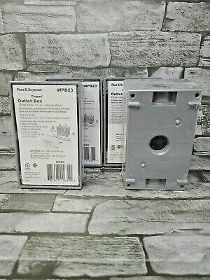 4x Pass Seymour Legrand Weatherproof All Weather Outlet Box 3-hole 12 Wpb23