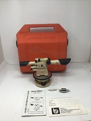 David White Lt6-900n Meridian Transit Level In Case W Manual Plumb Bob