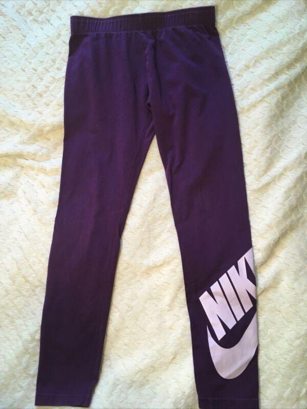 Nike Girls Purple Leggings Large