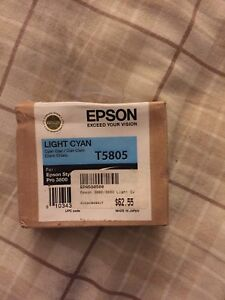 Unopened Epson cyan ink cartridge