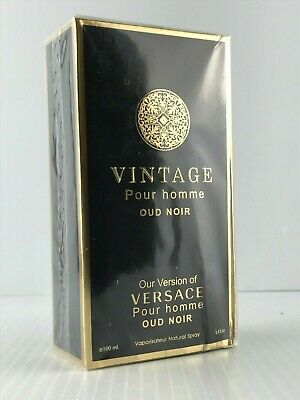 VINTAGE POUR HOMME OUD NOIR OUR VERSION OF VERSACE EDT SPRAY 3.4 OZ NEW BOX