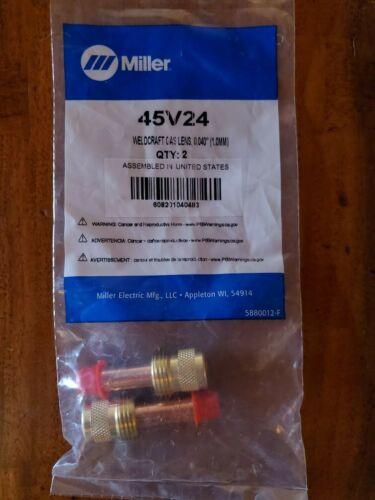 """Miller-WeldCraft 45V24 Gas Lens 0.040""""/1.0mm, 2 PK"""