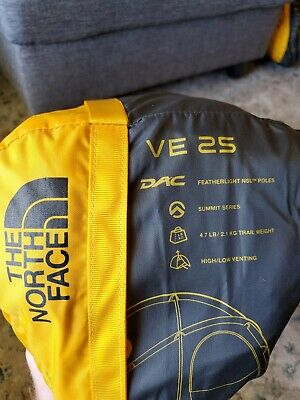 The North Face VE25 3 Person 4 Season Tent Summit Gold Color NEW $670