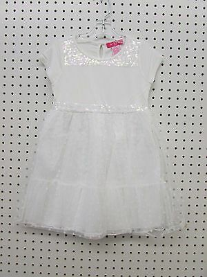 U Knit Toddler Girl's Sequin Tutu Dress (Sizes 2T, 3T, 4T, or 5T) Winter White - Toddler Sizes 2t