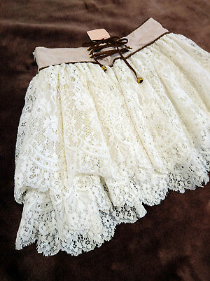 Fluffy Lacework Back lace-up skirt LIZ LISA JapanM Hime Gyaru Jfashion Kawaii