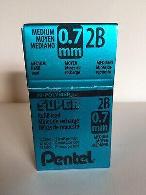 Pentel Hi-polymer Super Lead Mechanical Pencil Refill 2b 0.7