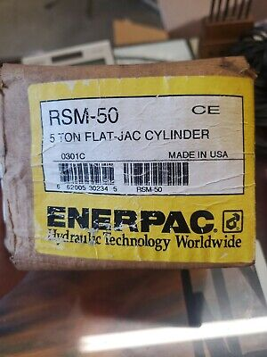 Enerpac 5 Ton Flat Jack High Pressure Hydraulic Cylinder Model Rsm-50